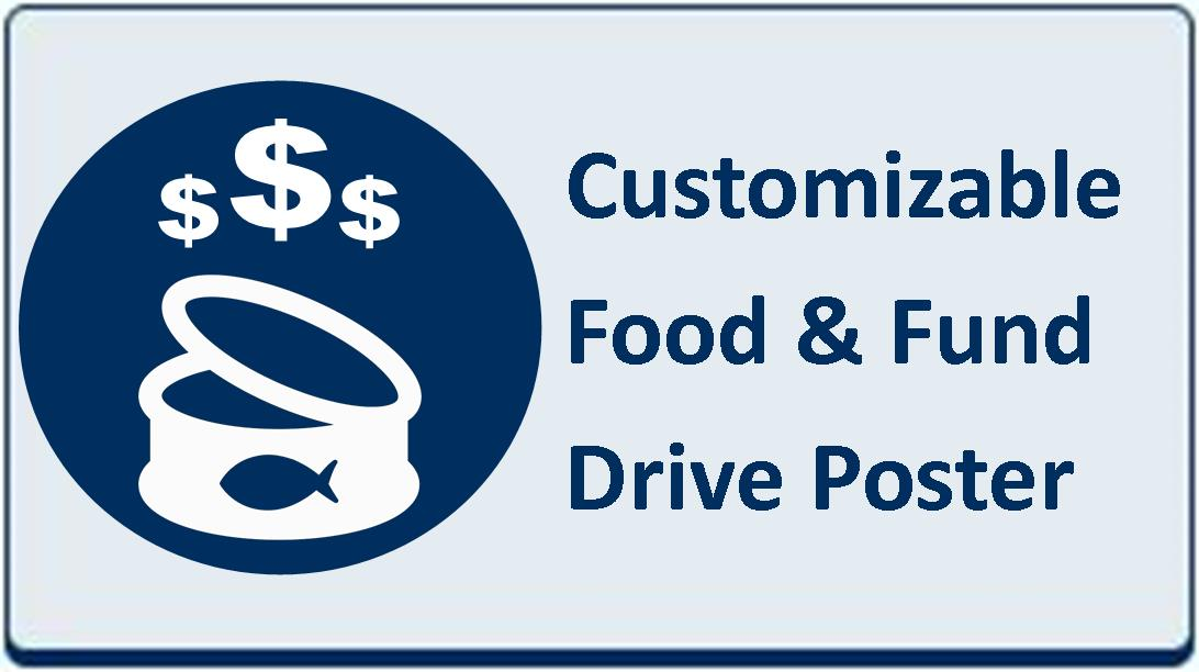 Web Site Blue Button - Food Drive Poster