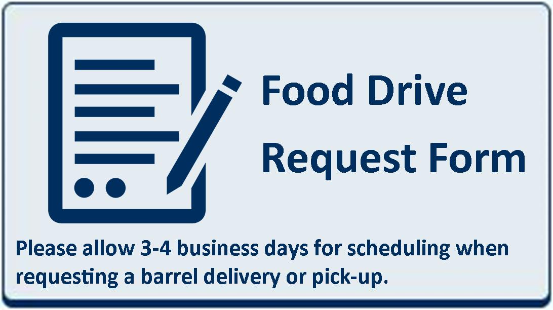 Web Site Blue Button - Food Drive Request Form