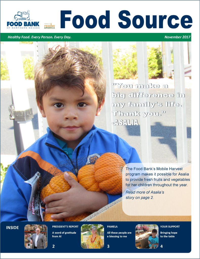 November 2017 Food Source Newsletter | Food Bank of Northern Nevada