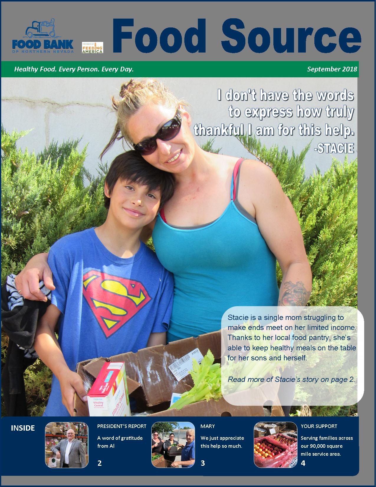September 2018 Food Source Newsletter | Food Bank of Northern Nevada