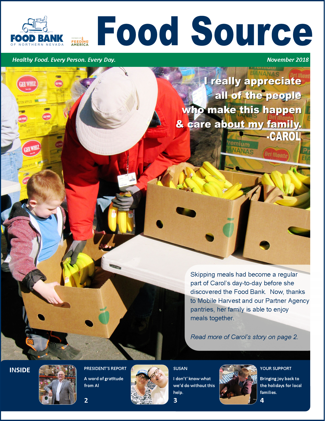 November 2018 Food Source Newsletter | Food Bank of Northern Nevada