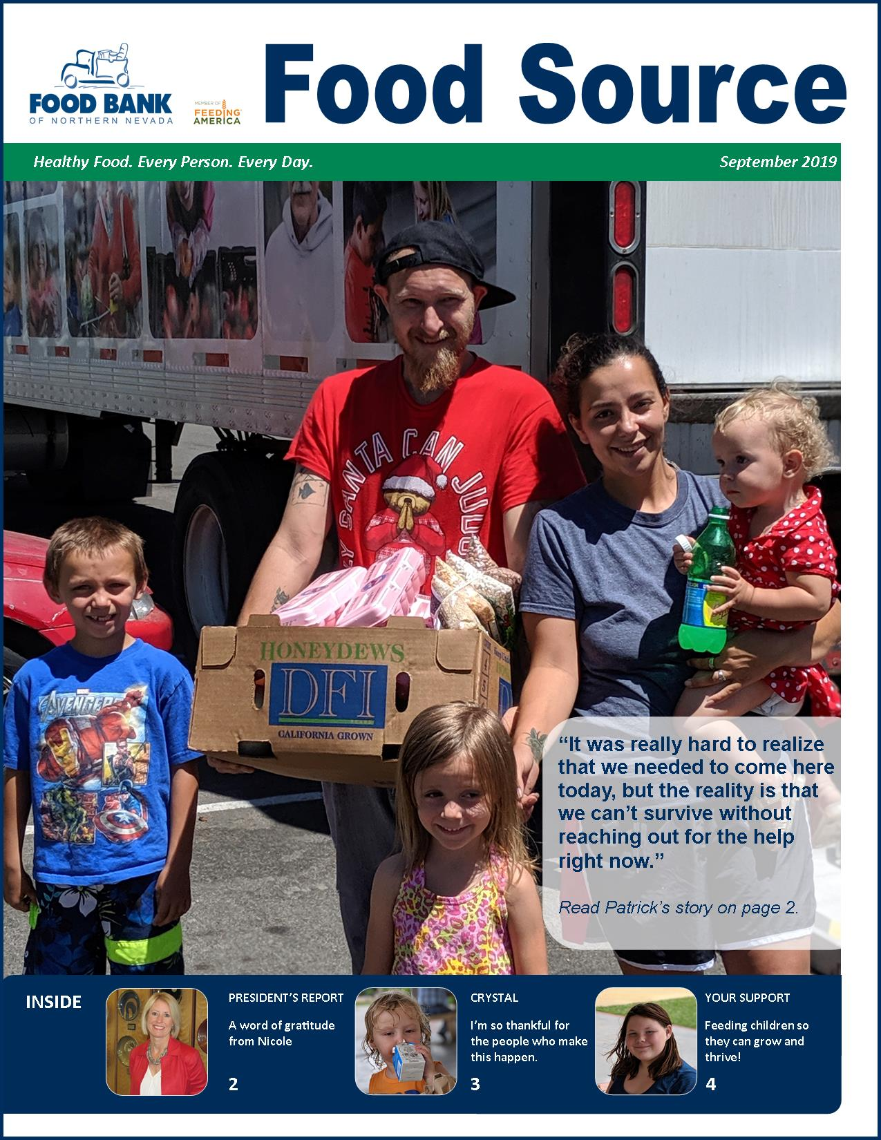September 2019 Food Source Newsletter | Food Bank of Northern Nevada