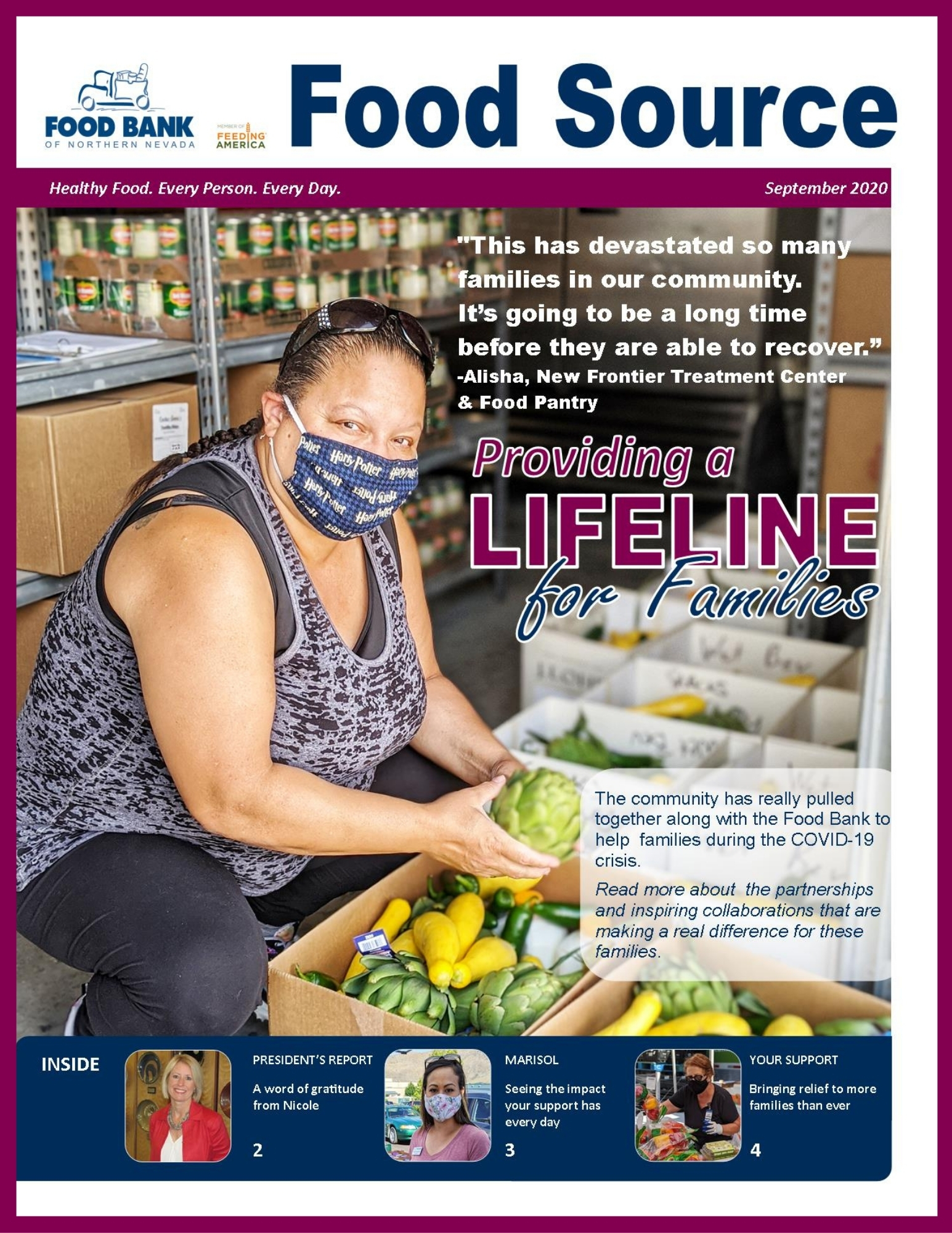 September 2020 Food Source Newsletter | Food Bank of Northern Nevada