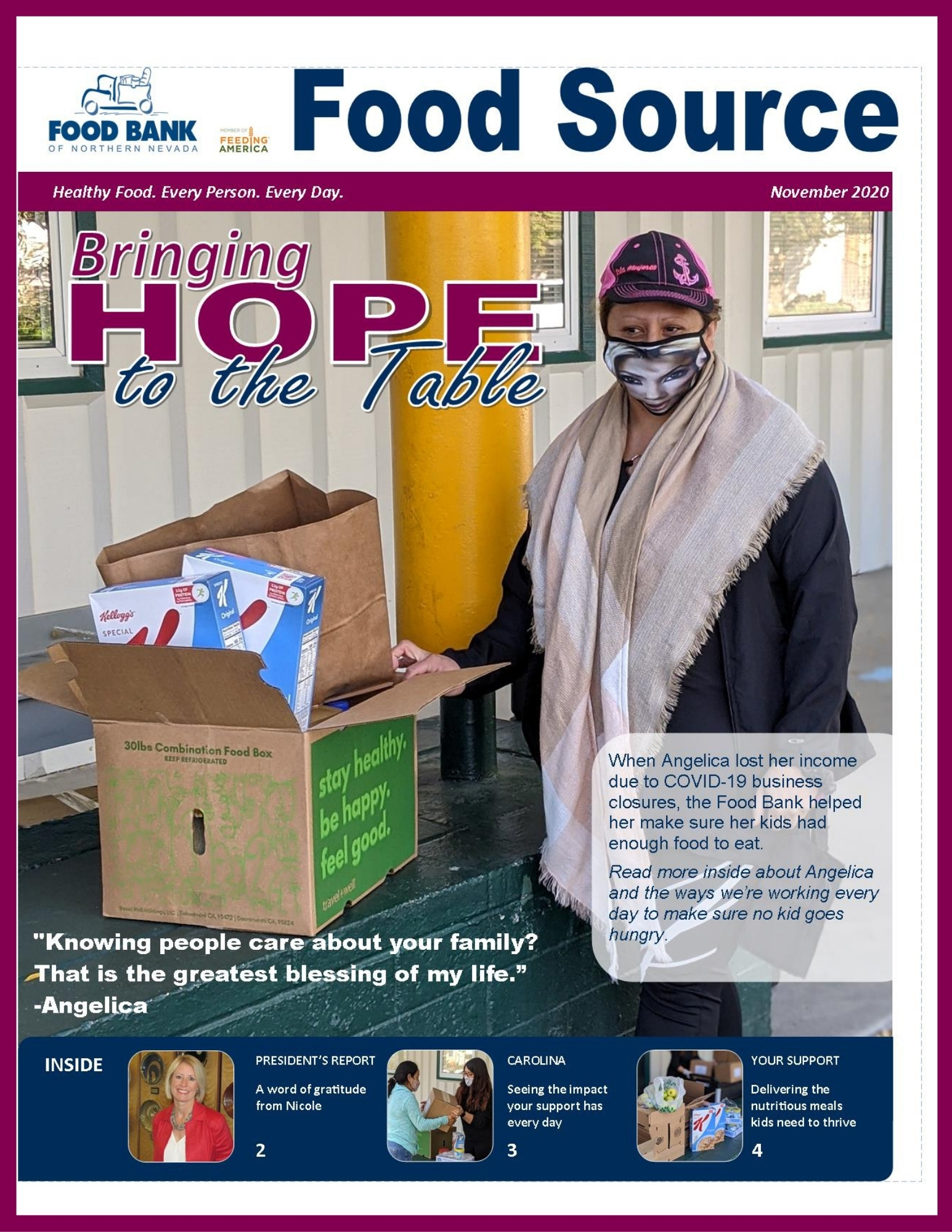 November 2020 Food Source Newsletter | Food Bank of Northern Nevada